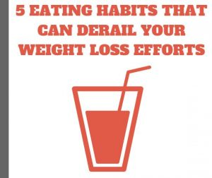 eating habits that can slow weight loss progress
