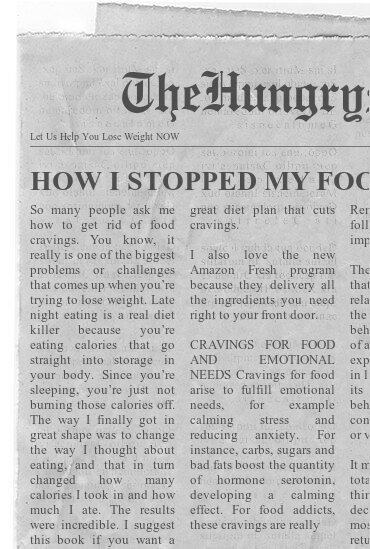 newspaper- HOW I STOPPED MY FOOD CRAVINGS AND GOT IN SHAPE