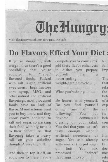 newspaper- Do Flavors Effect Your Diet and Weight Loss