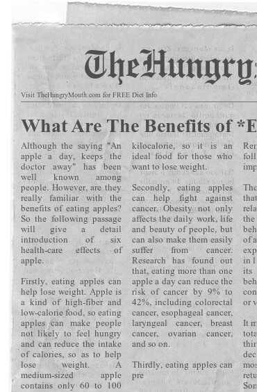 newspaper- What Are The Benefits of Eating Apples Daily