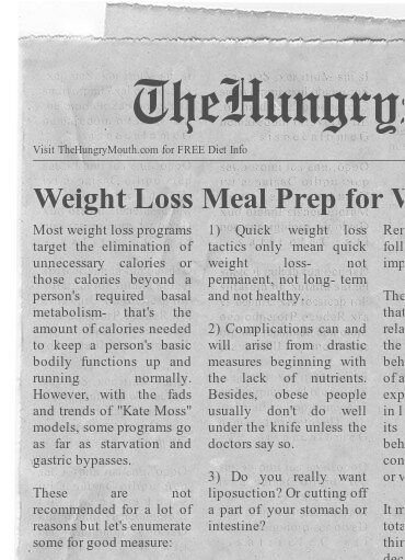 newspaper- Weight Loss Meal Prep for Women
