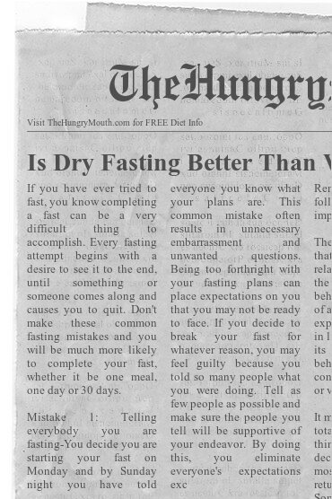 newspaper Is Dry Fasting Better Than Water Fasting