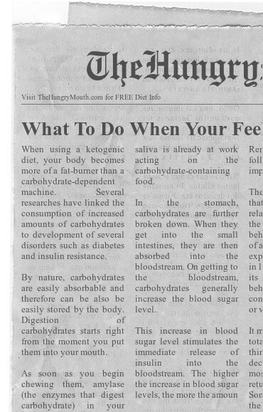 newspaper- What To Do When Your Feeling Fluffy or Bloated On Keto