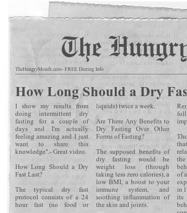 Benefits of intermittent dry fasting