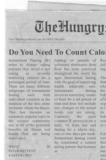 newspaper- Do You Need To Count Calories To Lose Weight With Fasting