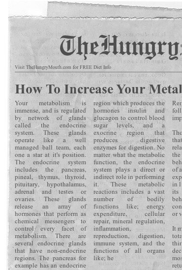 newspaper - How To Increase Your Metabolism And Lose Weight