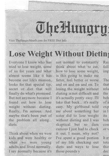 newspaper Lose Weight Without Dieting – No Diet Healthy Eat Weight Loss Tips