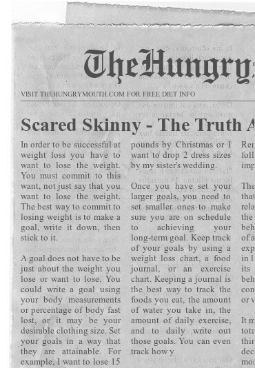 Scared Skinny – The Truth About Dieting