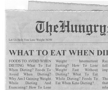 newspaper- WHAT TO EAT WHEN DIETING