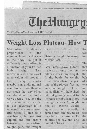 newspaper - Weight Loss Plateau- How To Kick Start Metabolism