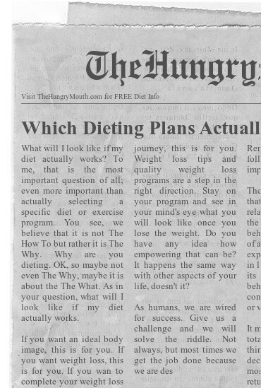 newspaper- Which Dieting Plans Actually Work