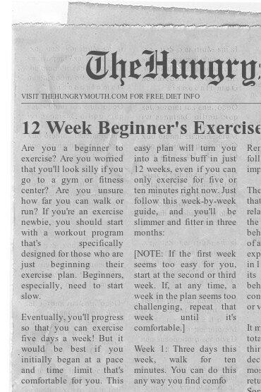 12 Week Beginner's Exercise Program
