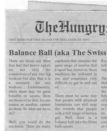 Balance Ball (aka The Swiss Ball) Squats
