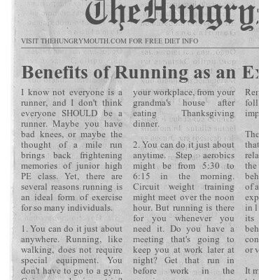 Benefits Of Running As An Exercise Program