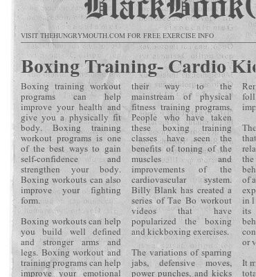 Boxing Training- Cardio Kickboxing Programs