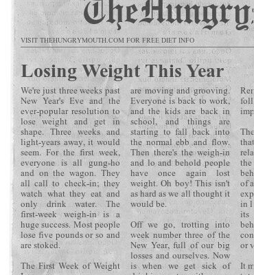 Losing Weight This Year
