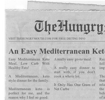 An Easy Mediterranean Keto Meal- Low Carb With Healthy Fats