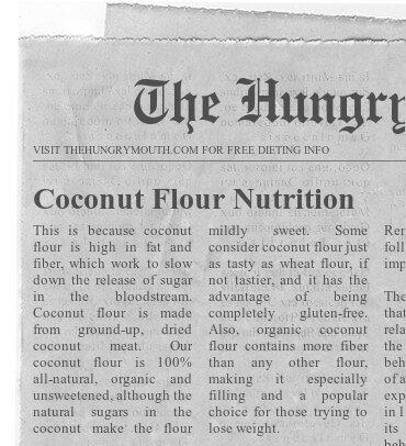 Coconut Flour Nutrition