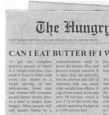 CAN I EAT BUTTER IF I WANT TO LOSE WEIGHT