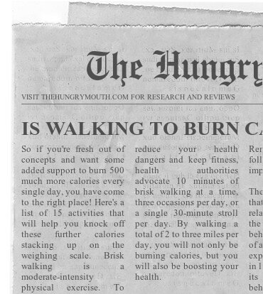 IS WALKING TO BURN CALORIES WORTH IT