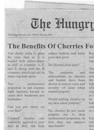Cherries benefits.