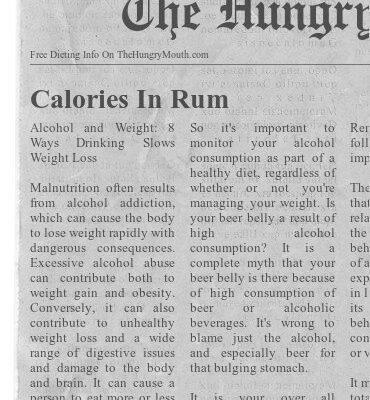 Calories in Rum