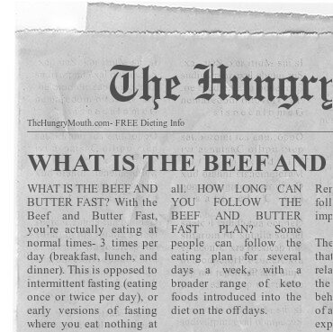 Learn about the beef and butter fast.