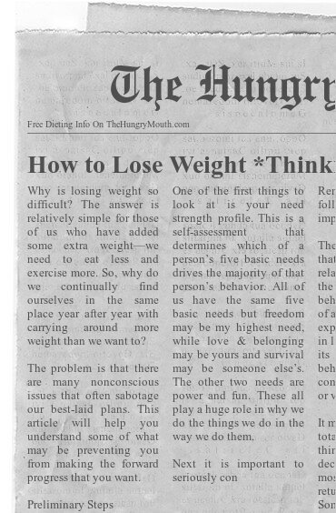 How to Lose Weight *Thinking About* Food Differently