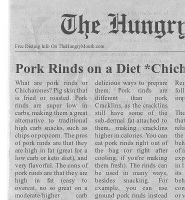 Pork Rinds on a Diet *Chicharrones*